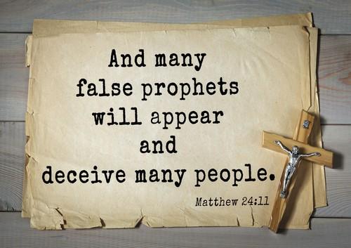 False Prophets Will Exist